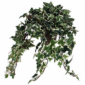 Kunstplant Hedera Groen-bont - L 45cm - Keramiek sierpot - Mica Decorations