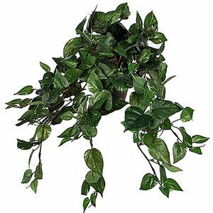 Kunstplant Scindapsus Groen - L 45cm - Keramiek sierpot - Mica Decorations