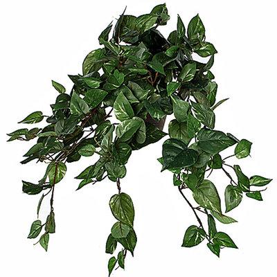 Künstliche Pflanze Scindapsus Grün - L 45cm - Keramiktopf - Mica Decorations