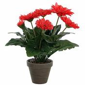Künstliche Pflanze Gerbera rosa - H 35cm - Keramiktopf - Mica Decorations