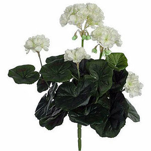 Kunstplant Geranium Wit, losse steker - H 35cm