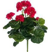 Kunstplant Geranium donkerroze - Steker H 35cm - Mica Decorations