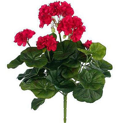 Künstliche Pflanze Geranie Dunkelrosa - Stecker H 35cm - Mica Decorations