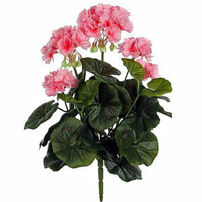 Kunstplant Geranium Roze - Steker H 35cm - Mica Decorations