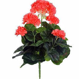 Künstliche Pflanze Geranie Lachs-Pfirsich - Stecker H 35cm - Mica Decorations