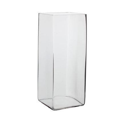 Handgemaakte glazen accubak Britt, H35cm, transparant