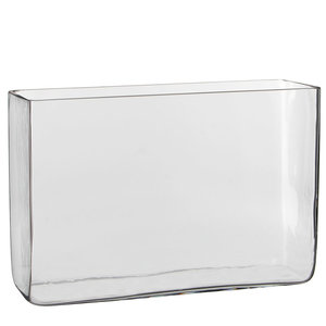 Handgefertigte Glasvase Britt - Transparent - H 20cm - Mica Decorations
