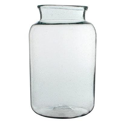 Handgemaakte glazen vaas Vienne, transparant