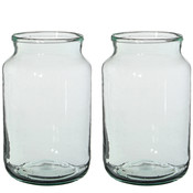 Handgemaakte glazen vaas Vienne, transparant, H30cm / D18cm