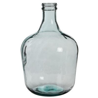 Handgemaakte glazen fles Diego, transparant glas H42cm / D27cm