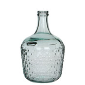 Handgemaakte glazen fles Diego Weave, transparant glas, H30cm / D 20cm