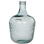 Handgemaakte glazen fles Diego Weave, transparant glas, H42cm / D27cm