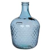 Handgemaakte glazen fles Diego Weave, Blauw glas, H42cm / D27cm