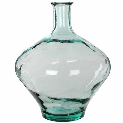 Handgemaakte glazen fles Kyara, Transparant glas, H46cm / D38cm