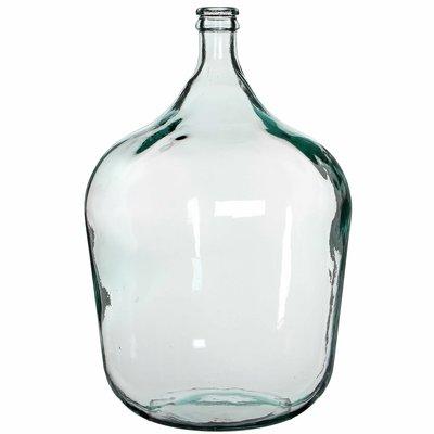 Handgemaakte glazen fles Diego, transparant glas, H56cm / D40cm
