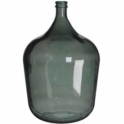 Handgemaakte glazen fles Diego, Groen glas, H56cm / D40cm