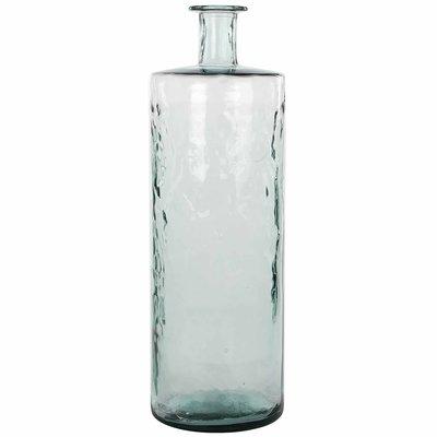 Handgemaakte glazen fles Guan, Transparant glas, H75cm / D25cm