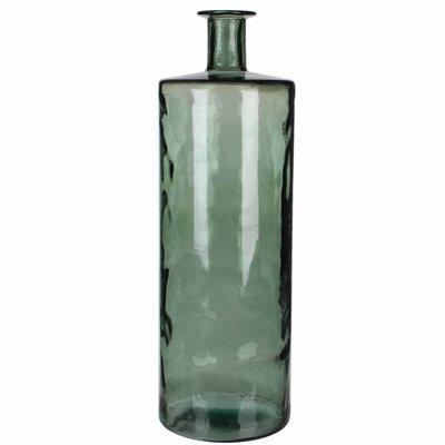 Handgemaakte glazen fles Guan, Grijs glas, H75cm / D25cm