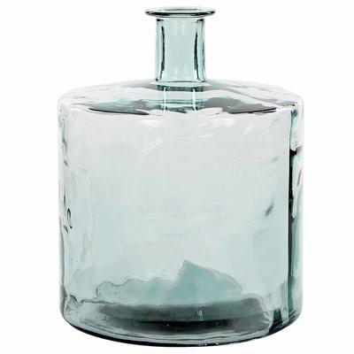 Handgemaakte glazen fles Guan, Transparant glas, H44cm / D35cm