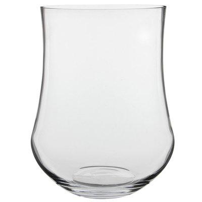 Handgemaakte glazen vaas Kres, transparant