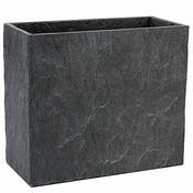 Mica Decorations - Plantenbak langwerpig - Zand cement - H28cm