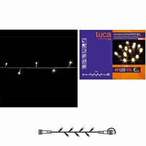 LUCA Connect 24V - Lichtsnoer met 49 warm witte LED-lampjes