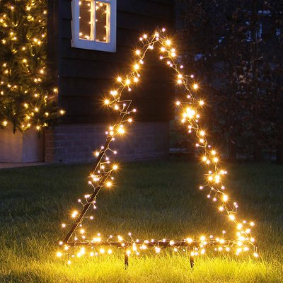 Verlichte kerstboom voor in de tuin - 75cm hoog - 175 LED lampjes - LUCA Lighting