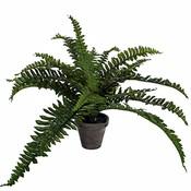 Kunstplant Varen Boston groen - H 35cm - Keramiek sierpot - Mica Decorations