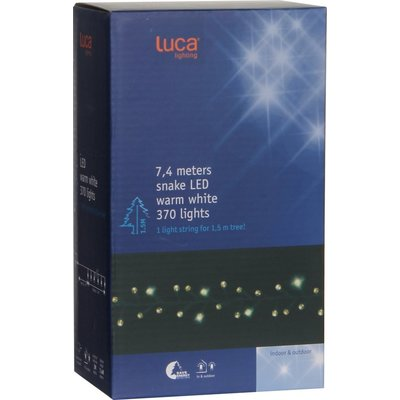 Kerstboomverlichting WarmWit - 370 energiezuinige LED-lampjes - LUCA Lighting Snake Light