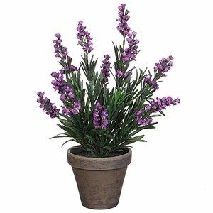Kunstplant Lavendel Paars - H 33cm - Keramiek sierpot - Mica Decorations