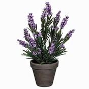 Kunstplant Lavendel Lila - H 33cm - Keramiek sierpot - Mica Decorations