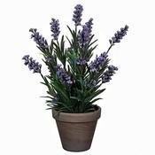 Kunstplant Lavendel Blauw- H 33cm - Keramiek sierpot - Mica Decorations