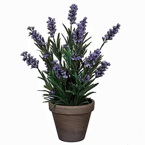 Kunstplant Lavendel Blauw - H 33cm - Keramiek sierpot - Mica Decorations