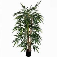 Künstliche Pflanze Bambus Grün - H 150cm - Kunststofftopf - Mica Decorations