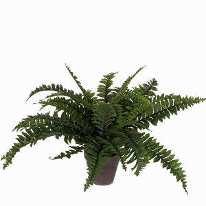 Künstliche Pflanze Farn Boston Grün - H 42cm - Keramiktopf - Mica Decorations