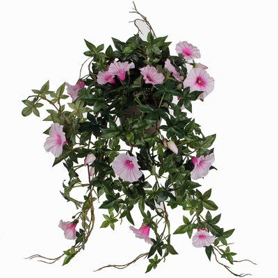 Künstliche Pflanze Petunie Rosa - L 50cm - Keramiktopf - Mica Decorations