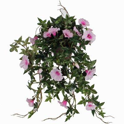 Kunstplant Petunia Roze - L 50cm - Keramiek sierpot - Mica Decorations