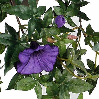 Künstliche Pflanze Petunie Dunkelviolett - L 50cm - Keramiktopf - Mica Decorations