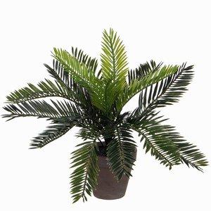 Künstliche Pflanze Palm Cycas Grün - H 33cm - Keramiktopf - Mica Decorations