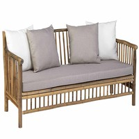 Bamboe loungebank inclusief kussens - Exotan
