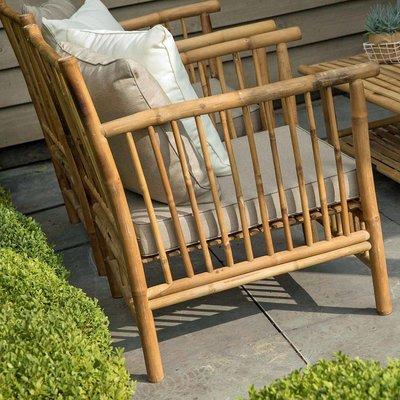 Bamboe loungestoel inclusief kussens - Exotan