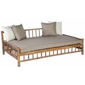 Bamboe loungebed inclusief kussens - Exotan