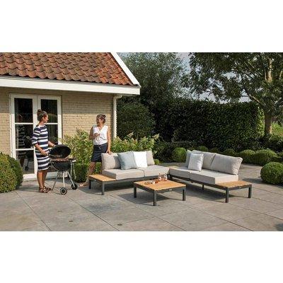 Loungeset 'Villa' - Antraciet aluminium - Inclusief kussens - Exotan