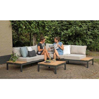 Lounge-Set 'Villa' mit Eckplatz Anthrazit - Inklusive Kissen - Exotan
