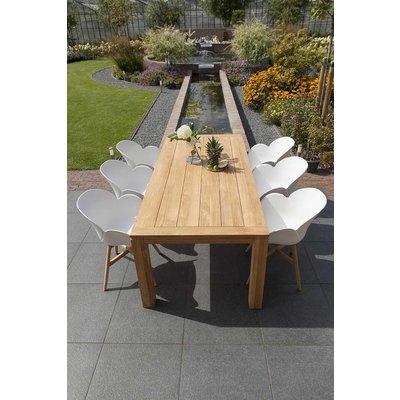 Tulip luxe dining tuinstoel - Wit - Exotan