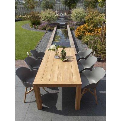 Tulip luxe dining tuinstoel - Grijs - Exotan