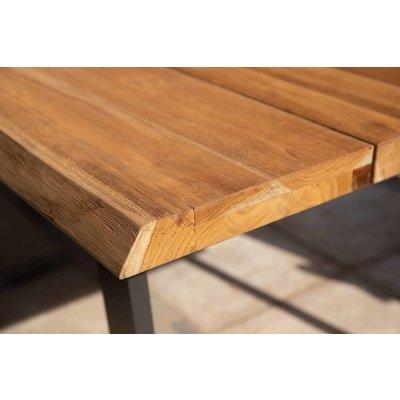 Gartentisch Borneo - Teak / Aluminium - L180 x B90 cm - Exotan