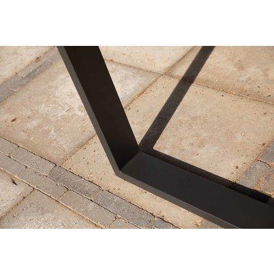 Gartentisch Borneo - Teak / Aluminium - L240 x B100 cm - Exotan