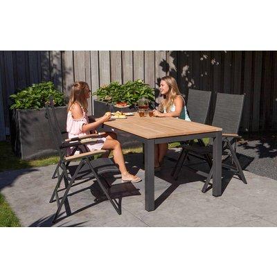 Gartentisch Memphis - Teak / Aluminium - L220 x B100 cm - Exotan