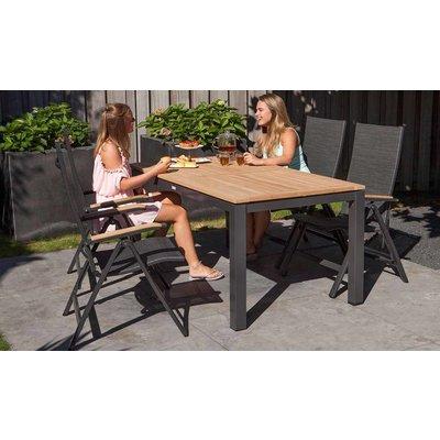 Memphis verstellbarer Dining Gartenstuhl - Grau / Anthrazit - Exotan